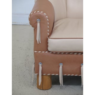 1990s Vintage Leather Upholstered Southwestern Style Club Chair Preview