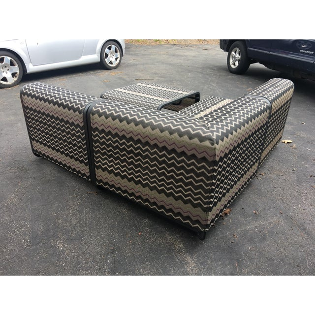 Missoni Sling Sectional Patio Furniture - 4 Pieces For Sale - Image 5 of 6