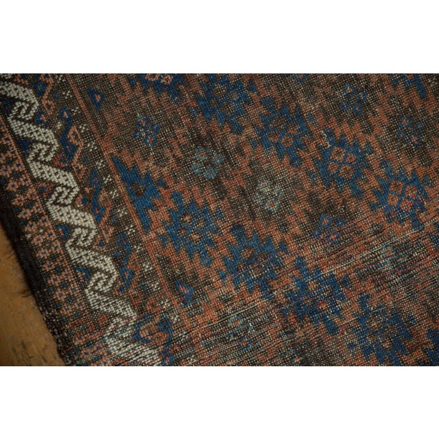 "Blue Antique Belouch Rug - 2'7"" X 4'6"" For Sale - Image 8 of 9"