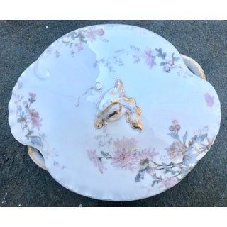 19th Century Antique Haviland Limoges Hand Painted Floral Tureen Preview