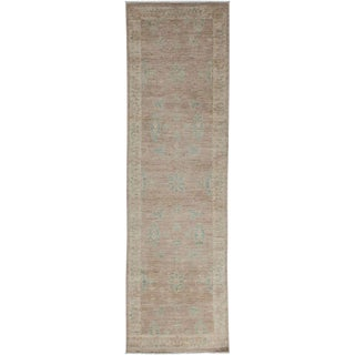 "Oushak, Hand Knotted Runner Rug - 2' 9"" x 9' 8"" For Sale"