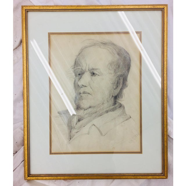Portrait of a Man in Frame For Sale - Image 4 of 11