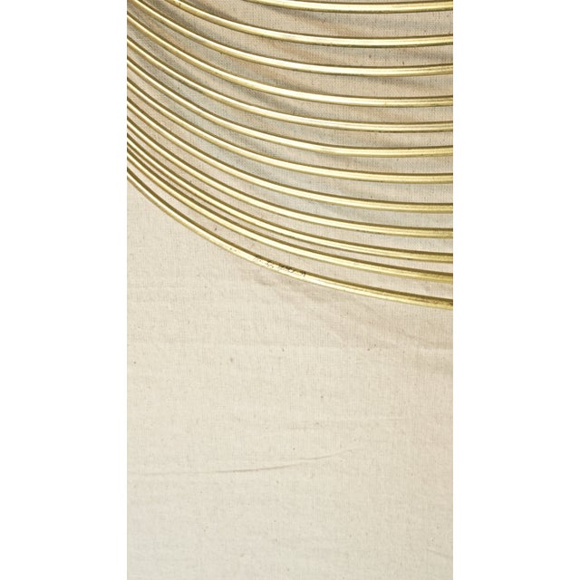 Vintage Curtis Jere Gold Wave Wall Sculpture For Sale - Image 5 of 5