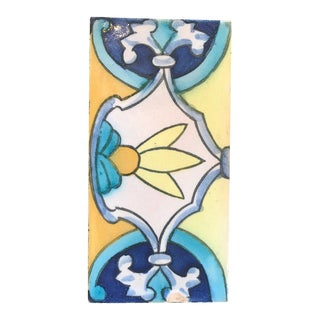 1930s Vintage Aqua & Yellow California Tile For Sale