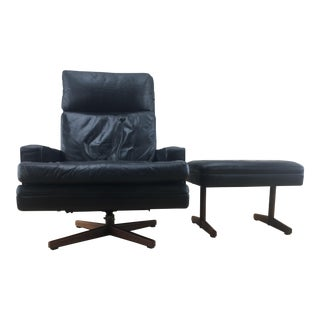 Mid Century Modern Spilka A/S Norway Modern Lounge Chair and Ottoman For Sale