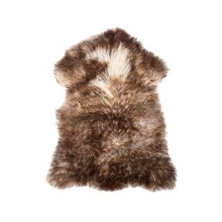 "Contemporary Handmade Wool Sheepskin Pelt - 2'4""x3'2"" For Sale"
