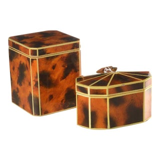 1940s Art Deco Decorative Boxes - a Pair For Sale