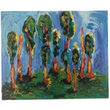 Image of Abstract Painting of a Grove of Trees For Sale