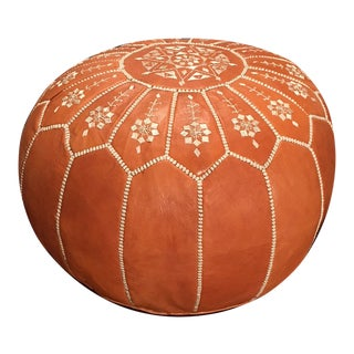 Arch Pouf Ottoman by Mpw Plaza (Stuffed) Moroccan Leather Pouf Ottoman For Sale
