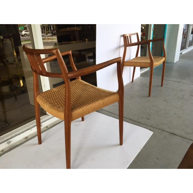Niels Moller Model 64 Danish Modern Chairs - A Pair For Sale - Image 10 of 10