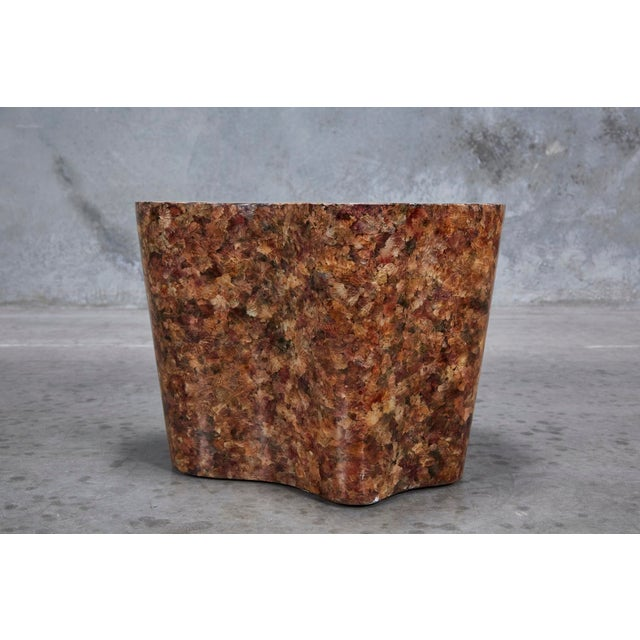 """1990s Contemporary Freeform """"Clouds"""" Side Table With Petal Shell Inlay For Sale - Image 9 of 13"""