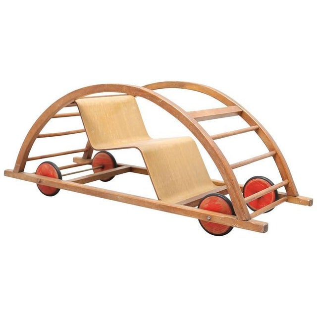 Beech Schaukelwagen Swing and Race Car Toy For Sale - Image 7 of 7