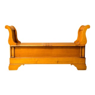French Cherry Trunk Bench For Sale