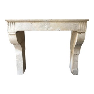 17th Century Limestone Fireplace For Sale