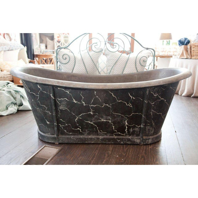 French French Zinc Tub For Sale - Image 3 of 7