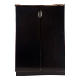 Mid-Century Murano Glass Clad Cabinet With Marble Top For Sale