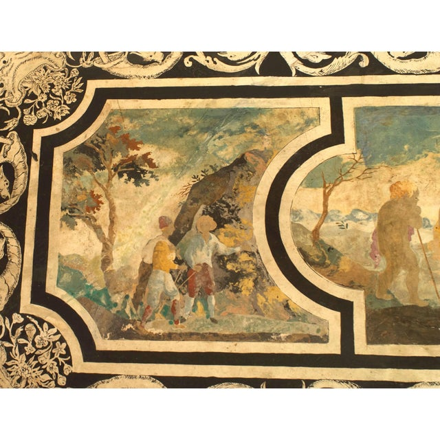 Neoclassical Contemporary Coffee Table With 18th C. Italian Neoclassical Top For Sale - Image 3 of 6