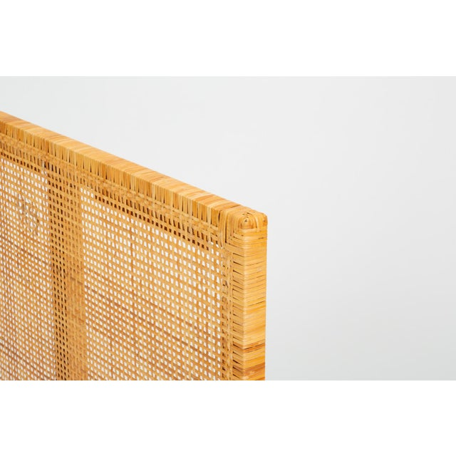 Tan Single Woven Cane Twin Headboard by Danny Ho Fong for Tropi-Cal For Sale - Image 8 of 10