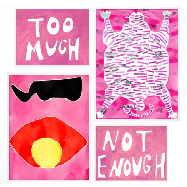 Wild Fuchsia Gallery Wall, Set of 4 For Sale - Image 10 of 10
