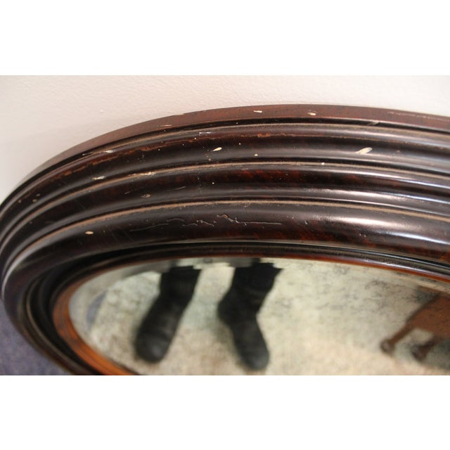 Antique Round Wall Mirror - Image 4 of 7