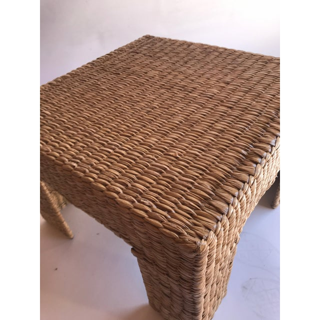 Contemporary Mario Lopez Torres Woven Parsons Table For Sale - Image 3 of 7