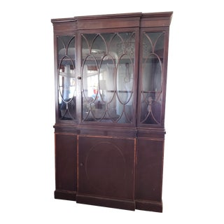 20th Century Gothic Mahogany China Cabinet For Sale