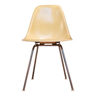 1960s Mid Century Modern Herman Miller Yellow Shell Side Chair For Sale
