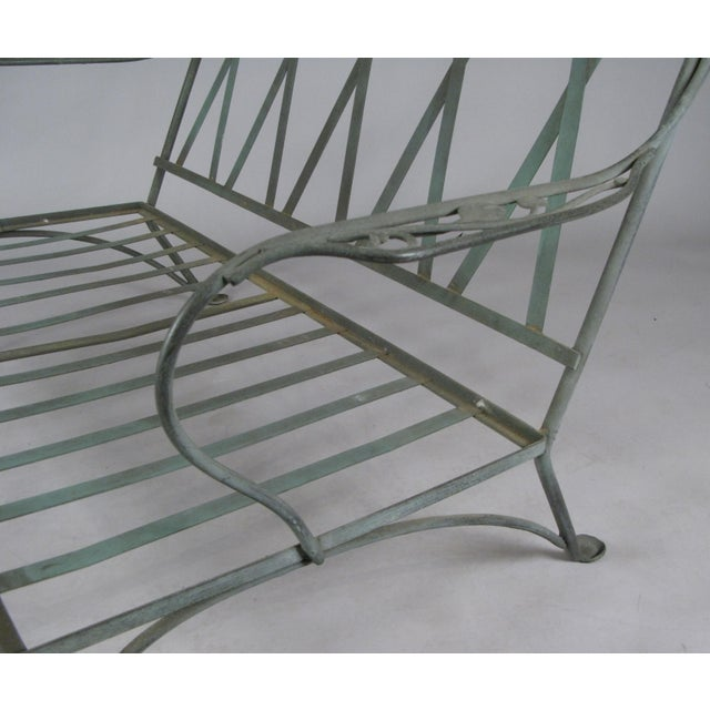 1950s Wrought Iron Settees by Salterini, Circa 1950 - a Pair For Sale - Image 5 of 11