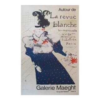 1980s Toulouse-Lautrec Exhibition Poster, La Revue Blanche For Sale