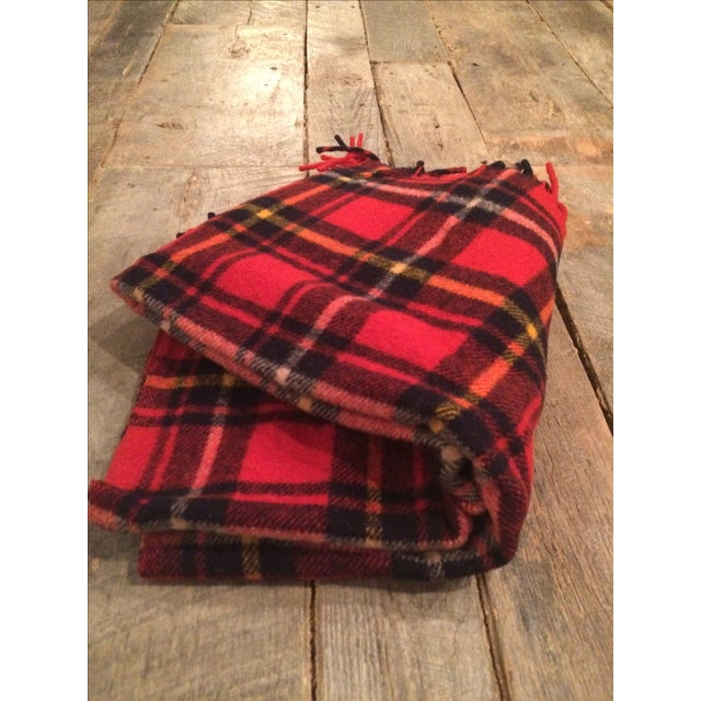Red Plaid Faribo Wool Blanket - Image 5 of 6