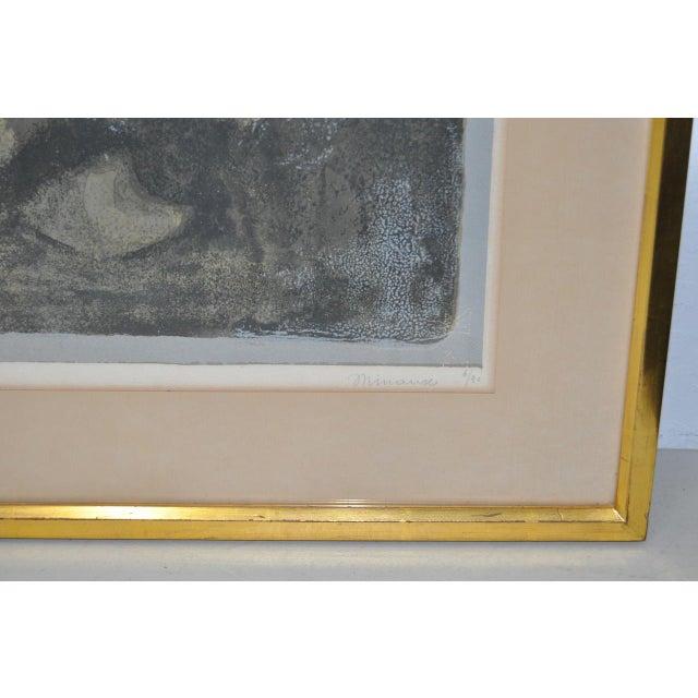 """Impressionism Andre Mineaux """"Tete de Femme"""" Original Lithograph c.1960s For Sale - Image 3 of 11"""