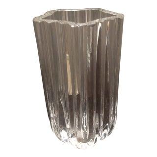 Kosta Boda Hand Blown Ribbed Star Vase For Sale