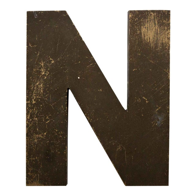 Industrial Letter N Wall Decor For Sale