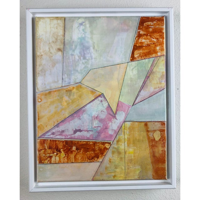 Contemporary Geometric Abstract Acrylic Painting, Framed For Sale In Seattle - Image 6 of 6