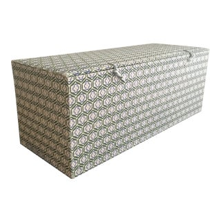 Vintage Batik Print Fabric Box