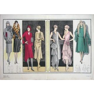 1920s Vintage Paris La Femme Chic #215 Print For Sale