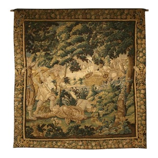 Documented French Handmade Aubusson Tapestry, circa 1650s For Sale