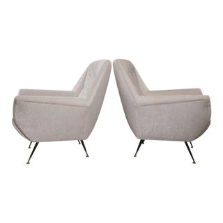 Italian Modernist Lounge Chairs - a pair For Sale