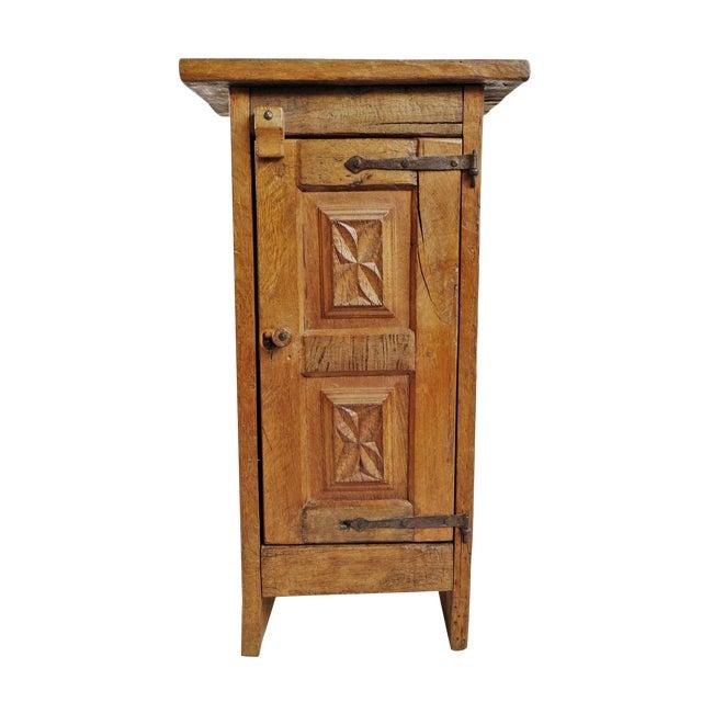 Vintage Mesquite Side Cabinet For Sale