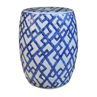Bamboo Joints Porcelain Garden Stool