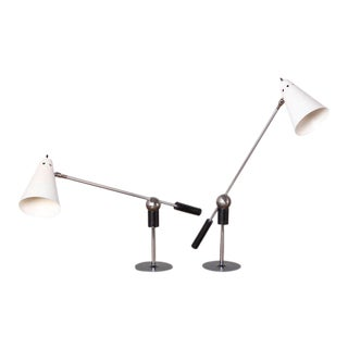 Pair of Magnetic Table Lamps by Gilbert Watrous for Heifetz, 1955 For Sale
