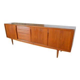 Axel Christiansen for Gunni Omann Danish Modern Teak Credenza For Sale