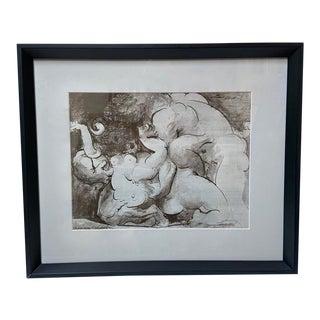 "Pablo Picasso ""The Minotaur"" Signed Vintage Original Lithograph For Sale"