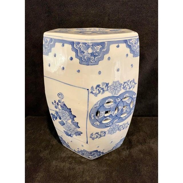 White Porcelain Garden Stool Chairish, Porcelain Garden Stools Chinese
