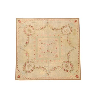 French Aubusson Rug - 12′3″ × 12′3″ For Sale