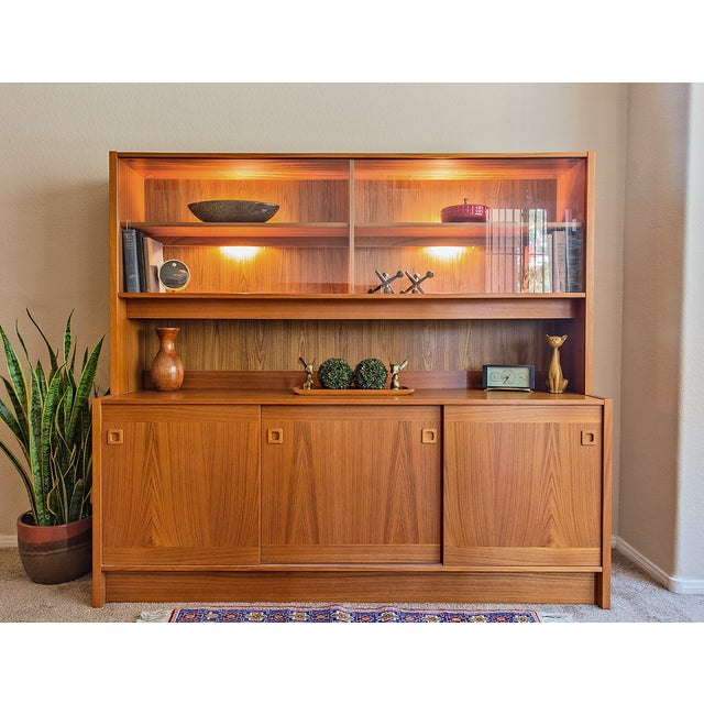 Clausen Møbler Danish Modern Teak Wall Unit/Hutch - Image 3 of 8