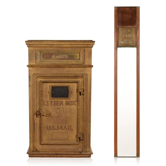 Antique Cutler Mailbox and Mail Chute For Sale - Image 11 of 11