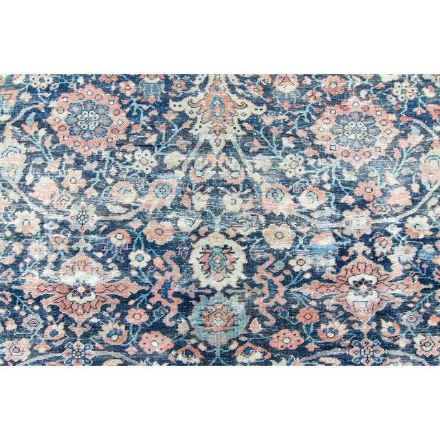 """House of Séance - 1920s Vintage Mahal Geometric Medallion Wool Hand-Knotted Rug - 8'6"""" X 11'7"""" For Sale - Image 10 of 11"""