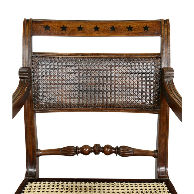 Early 19th Century Regency Mahogany and Ebony Inlaid Armchair For Sale - Image 5 of 13