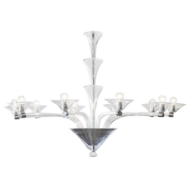 Modernist Customizable Murano Glass Chandelier For Sale